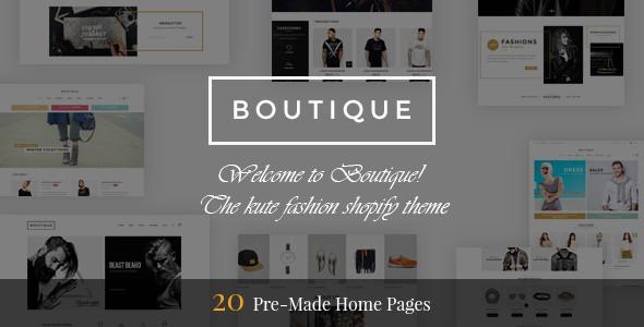 Boutique - Responsive Shopify Theme - Shopify eCommerce