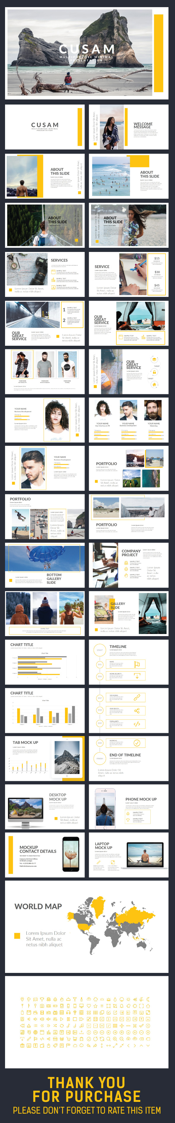 CUSAM Presentation Template - Creative PowerPoint Templates