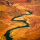 Beautiful landscape view of curved colorado river in Grand canyon - PhotoDune Item for Sale