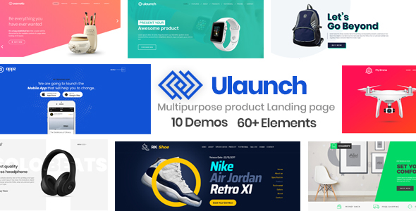 ULaunch - Multipurpose Product Showcase, Startup Landing Page HTML Template - Marketing Corporate