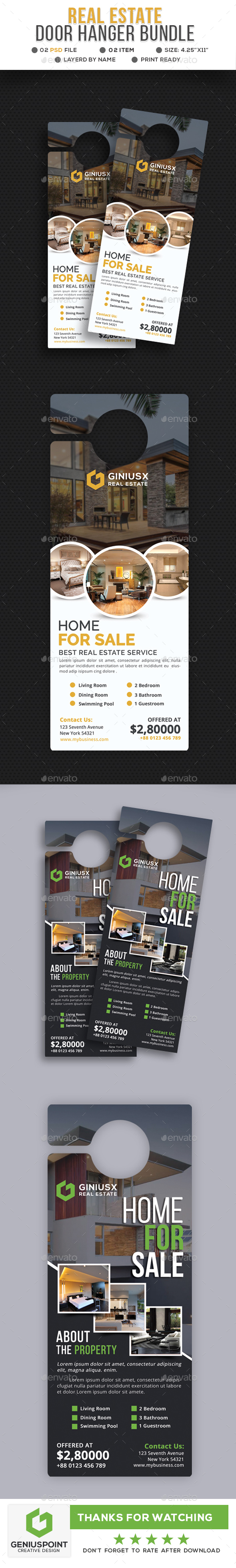 Real Estate Door Hanger Bundle - Miscellaneous Print Templates