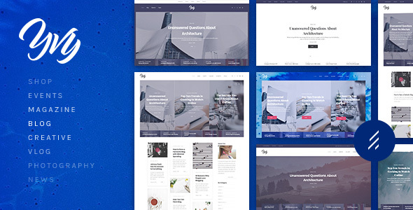 Yvy: A Stylish Blog/Magazine & Shop WordPress Theme - Personal Blog / Magazine