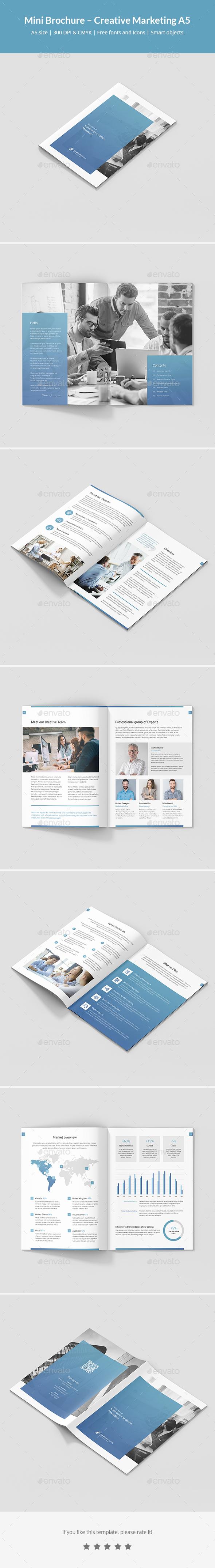 Mini Brochure – Creative Marketing A5 - Corporate Brochures