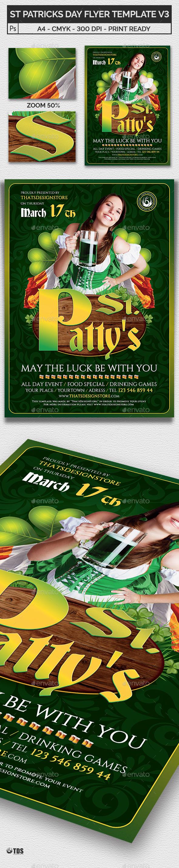 Saint Patricks Day Flyer Template V3 - Holidays Events
