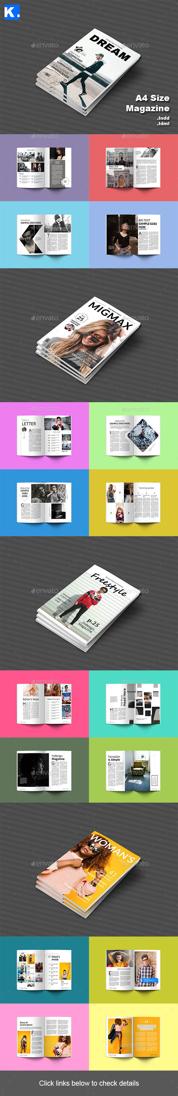 A4 Magazine Bundle 2 - Magazines Print Templates