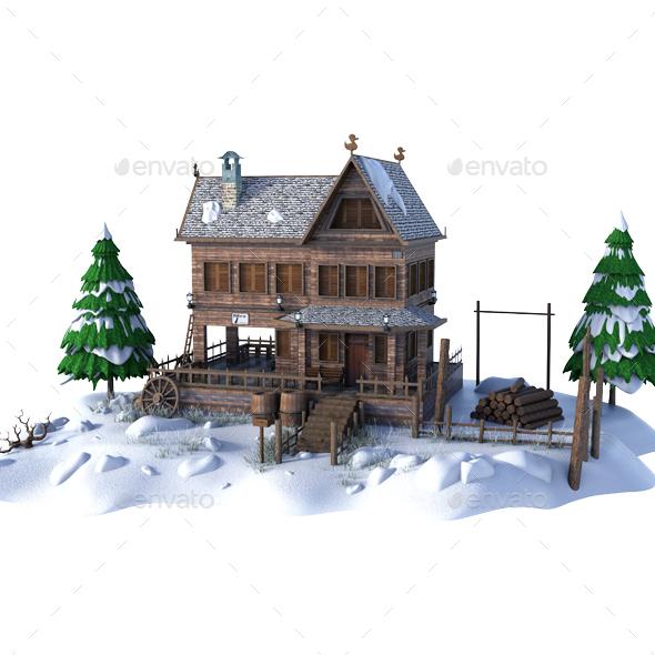 Snow House - Architecture 3D Renders