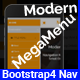 Modern Megamenu - Bootstrap4 Responsive Megamenu - CodeCanyon Item for Sale