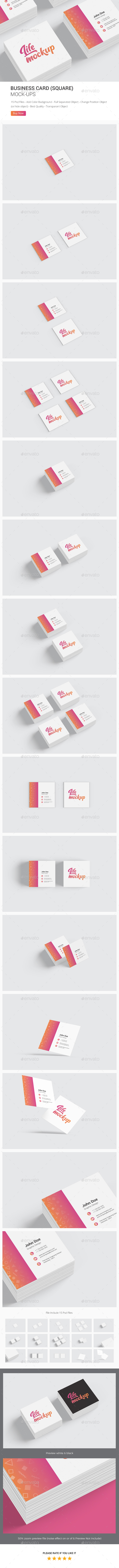 Business Card Square Mockup - Business Cards Print