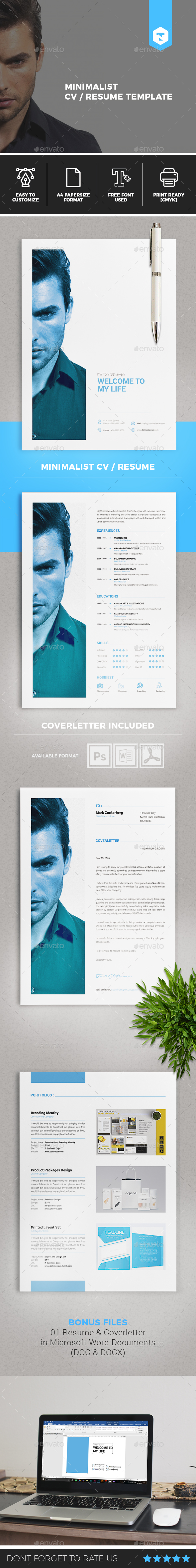 Minimalist CV / Resume Vol. 02 - Resumes Stationery