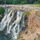Aerial of a Waterfall on the Island of Dnipro - VideoHive Item for Sale