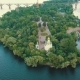 The Island in the Middle of the River Dnipro - VideoHive Item for Sale