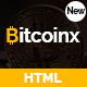 Bitcoinx - Bitcoin Crypto Currency HTML Landing Page