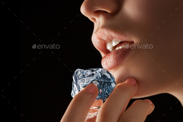 As cool as ice as hot as passion. - Stock Photo - Images