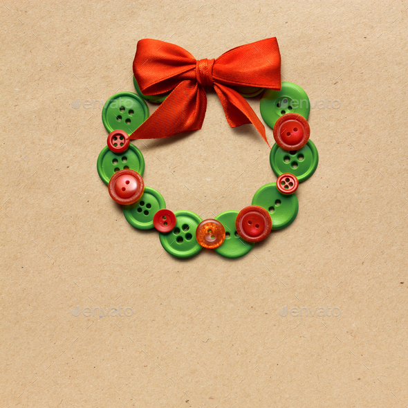Christmas wreath. - Stock Photo - Images
