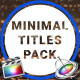 9 Minimal Titles Pack for FCPX - VideoHive Item for Sale