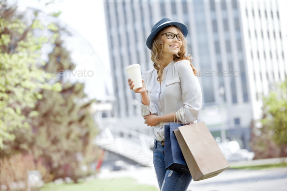 After shopping break. - Stock Photo - Images