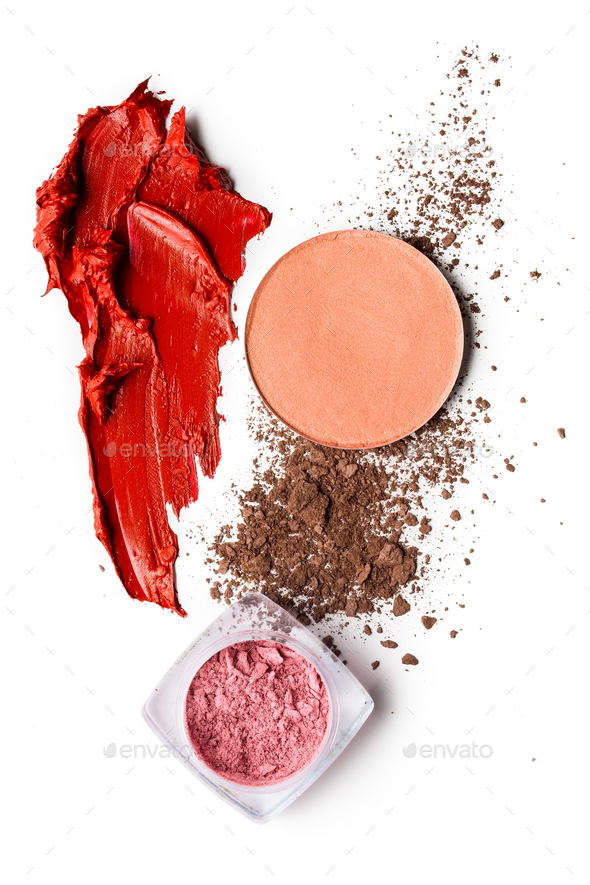 Cosmetic swatch. - Stock Photo - Images