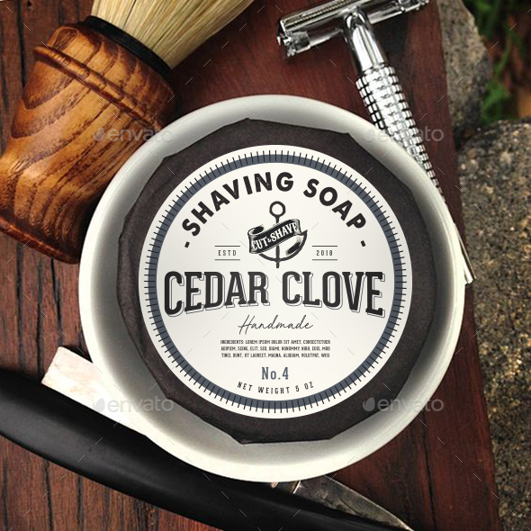 Shaving Soap Label Packaging