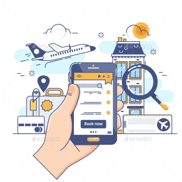 Summer Holiday Vacation Booking Online Concept - Travel Conceptual