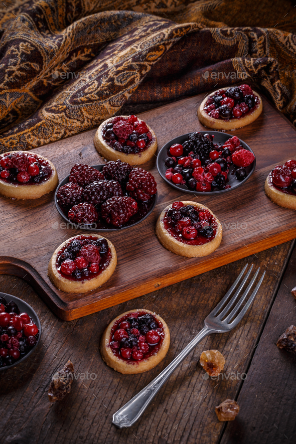 Mini party tartlets - Stock Photo - Images