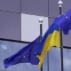 Ukrainian and Europe Union Flags - VideoHive Item for Sale