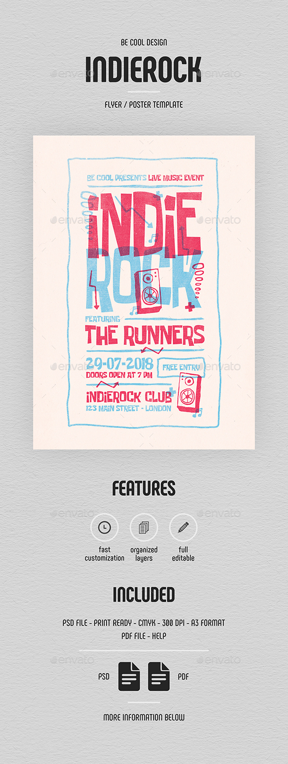 Indie Flyer/Poster - Concerts Events
