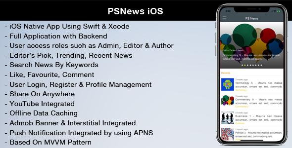 PSNews (Multipurpose iOS News Application) - CodeCanyon Item for Sale