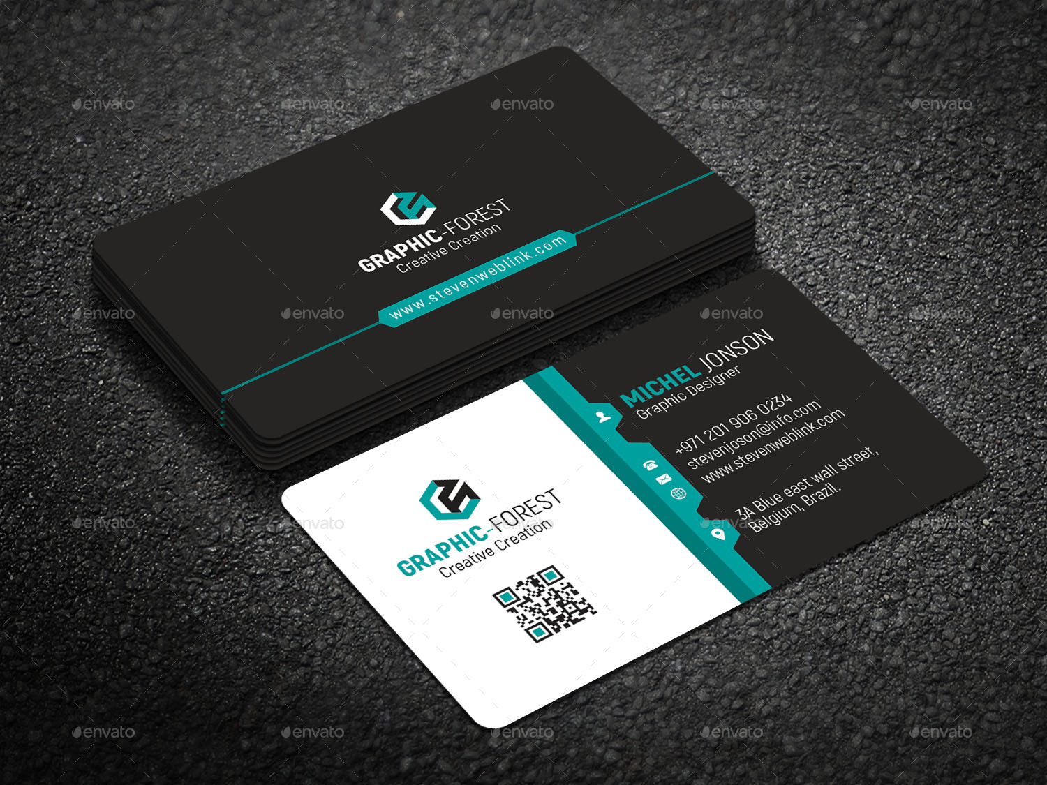 Corporate Business Card By Graphic Forest Graphicriver