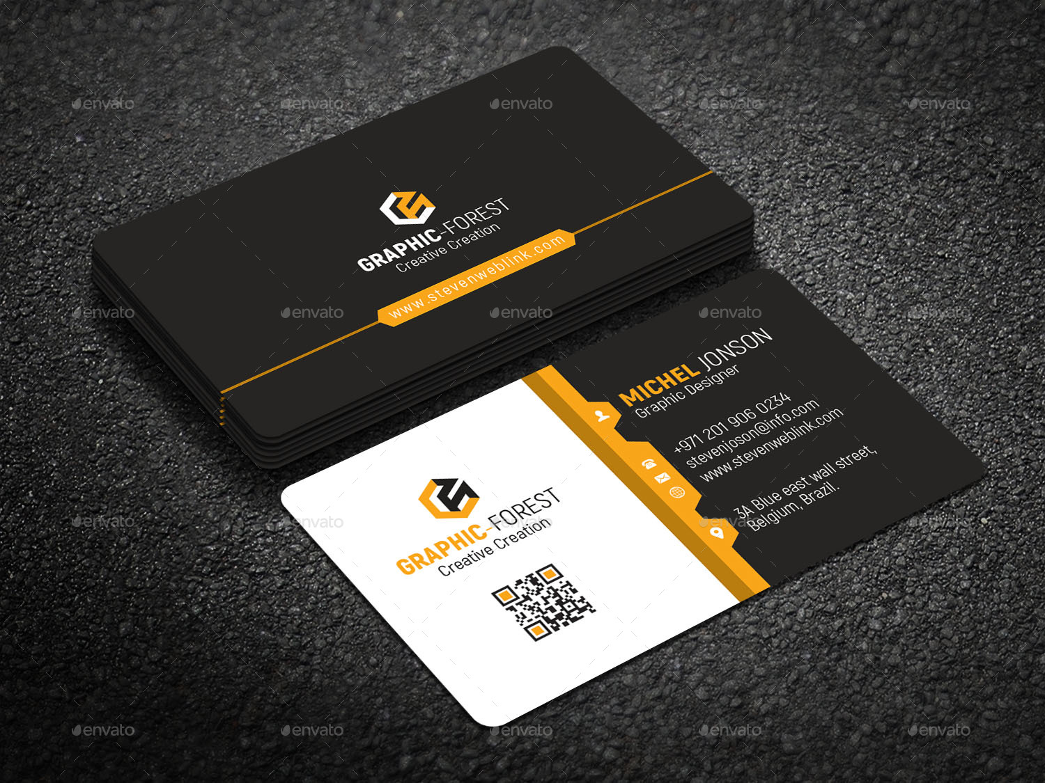 Corporate Business Card by Graphic-Forest | GraphicRiver