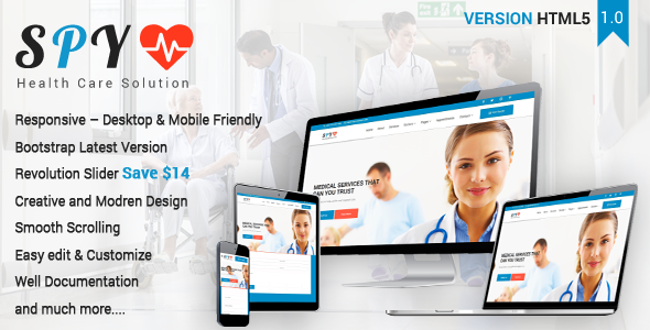 Image of SPY - Medical & Health Care Solution Template