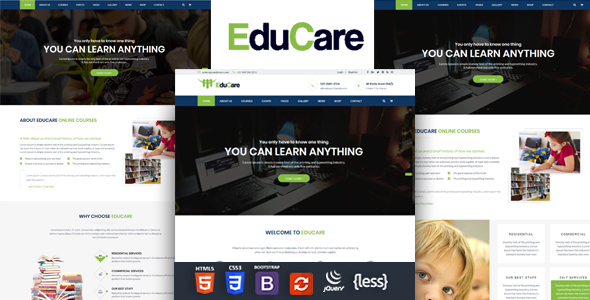 Image of EduCare - Education Responsive HTML Template