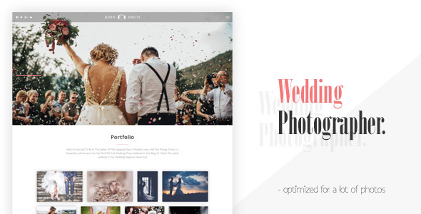 Max - Landing Page For Wedding Photographer