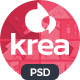 Krea - Modern Portfolio One Page PSD Web Template - ThemeForest Item for Sale
