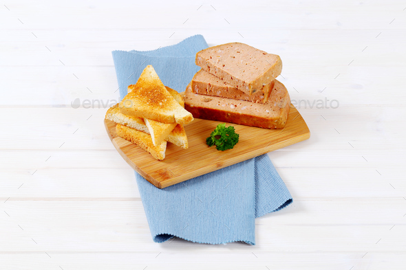 meat loaf with toast - Stock Photo - Images