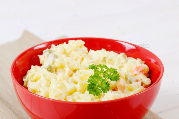 bowl of potato salad - Stock Photo - Images