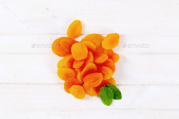 pile of dried apricots - Stock Photo - Images