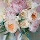 Wedding Bouquet of Roses and Peonies. Bridal Bouquet on Wedding Day. Bouquet of Different Flowers - VideoHive Item for Sale