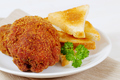 fried burgers with toasted bread - PhotoDune Item for Sale