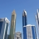 Look Up View To Skyscrapers on Sheikh Zayed Road - VideoHive Item for Sale