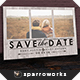 Modern Rustic Save the Date Postcard Template - GraphicRiver Item for Sale