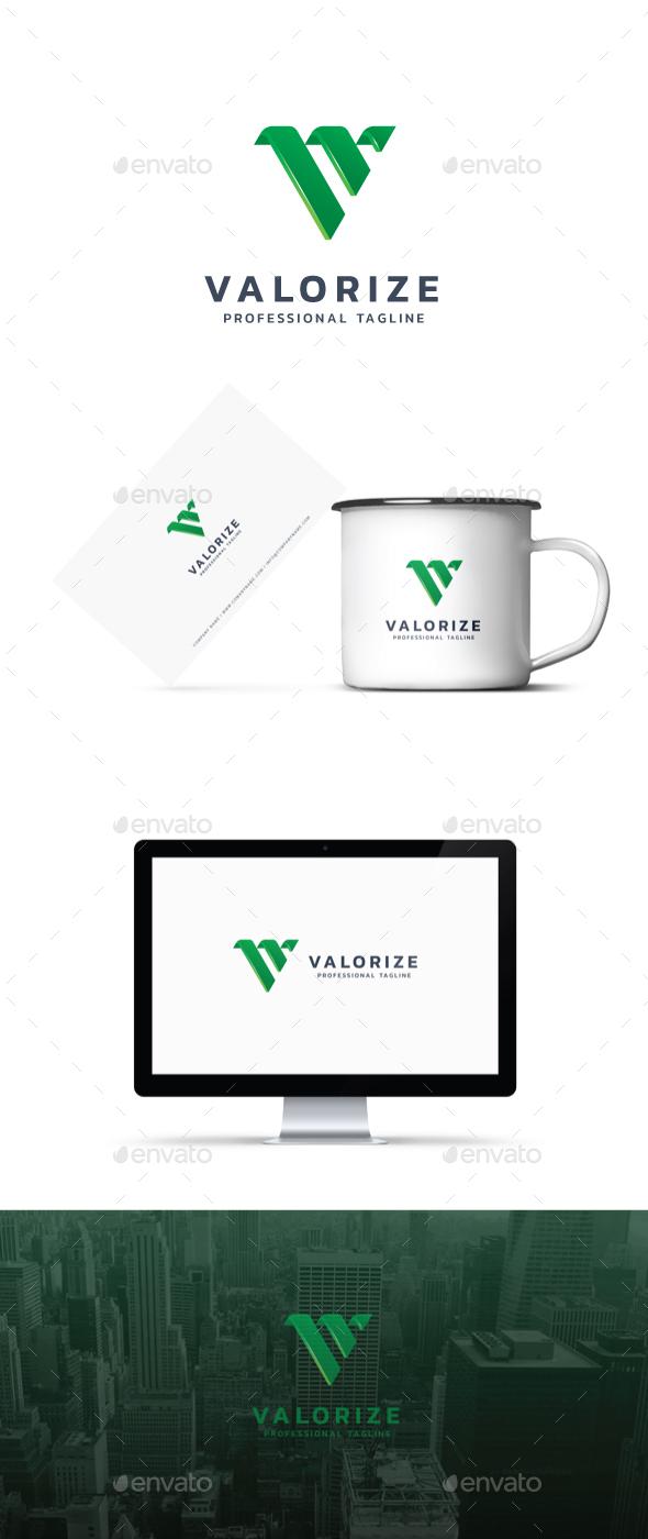 Letter V - Valorize Logo - Abstract Logo Templates