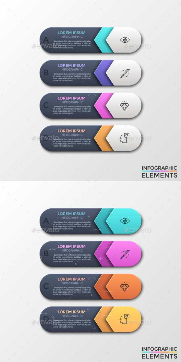 Modern Infographic Choice Arrows Template (2 Styles) - Infographics