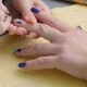 Manicure, Nail Lacquer, Gel. The Master Makes a Decorative Manicure Gel with a Varnish. Dark Blue - VideoHive Item for Sale