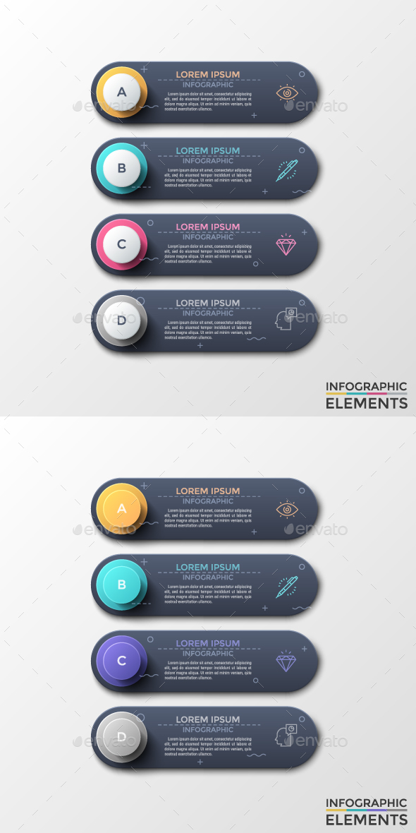Modern Infographic Choice Templates (2 Styles) - Infographics