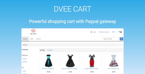Dvee Cart: E-commerce with Paypal - CodeCanyon Item for Sale