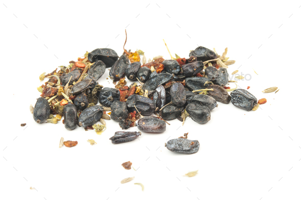 dried barberry isolated - Stock Photo - Images