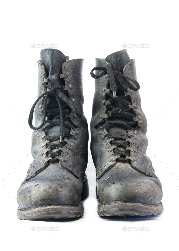 dirty military boots - Stock Photo - Images