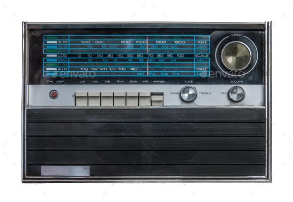 Retro Isolated Radio - Stock Photo - Images