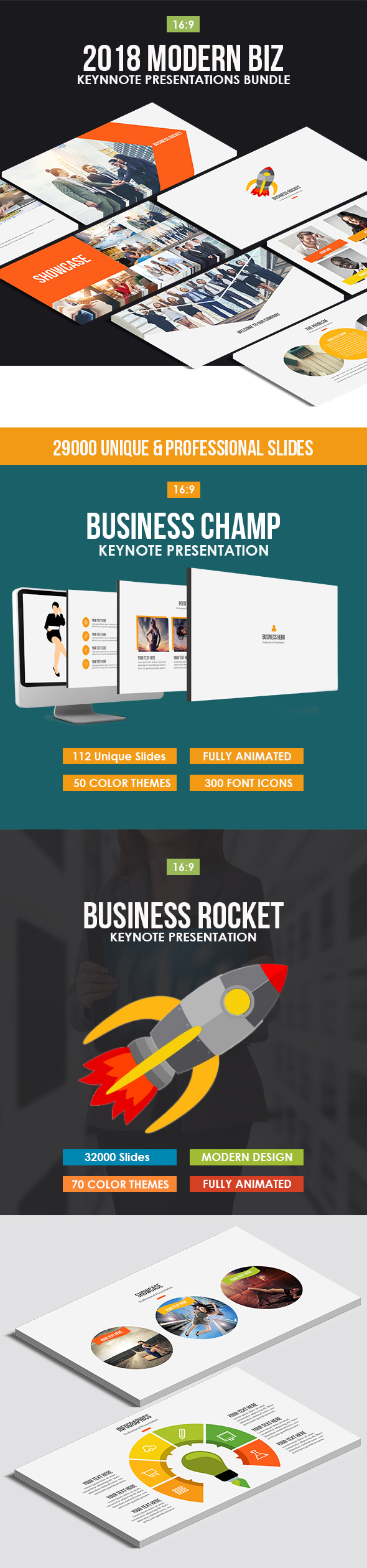 2018 Modern Biz Keynote Bundle - Business Keynote Templates