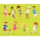Ssportsmen Vector Cartoon Characters Boy and Girl